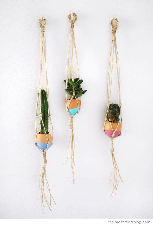 Mini Hanging Macrame Garden   Maker Crate