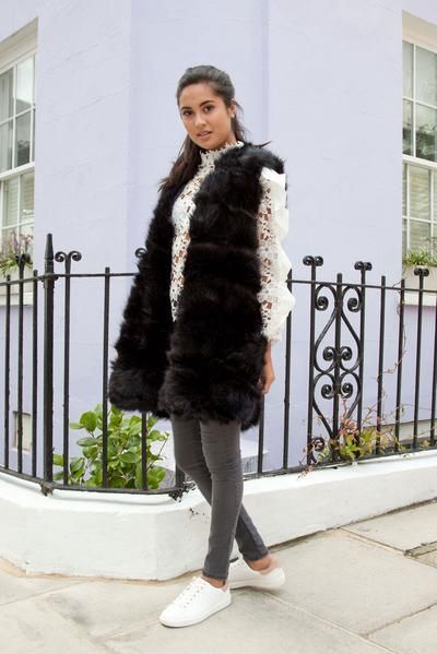 Styled in London Website, Styled in London Clothes, Fake Fur Winter Coat, Black Faux Fur Gilet, Longline Soft Faux Fur Gilet Jacket Vest Coat, Fake Fur