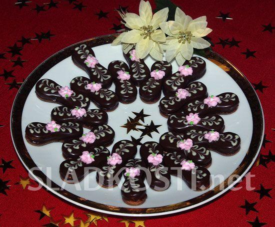 Kakaové jazýčky s ořechy