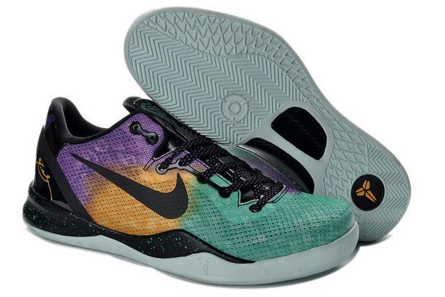 "555035 302 Kobe 8 ""Easter"" Fiberglass Court Purple Black Laser Purple"
