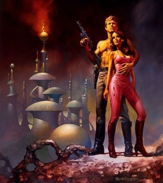 10 Cool Sci Fi Retro Artworks: Boris Vallejo / Sci-Fi Art From The 70s And Early 80s