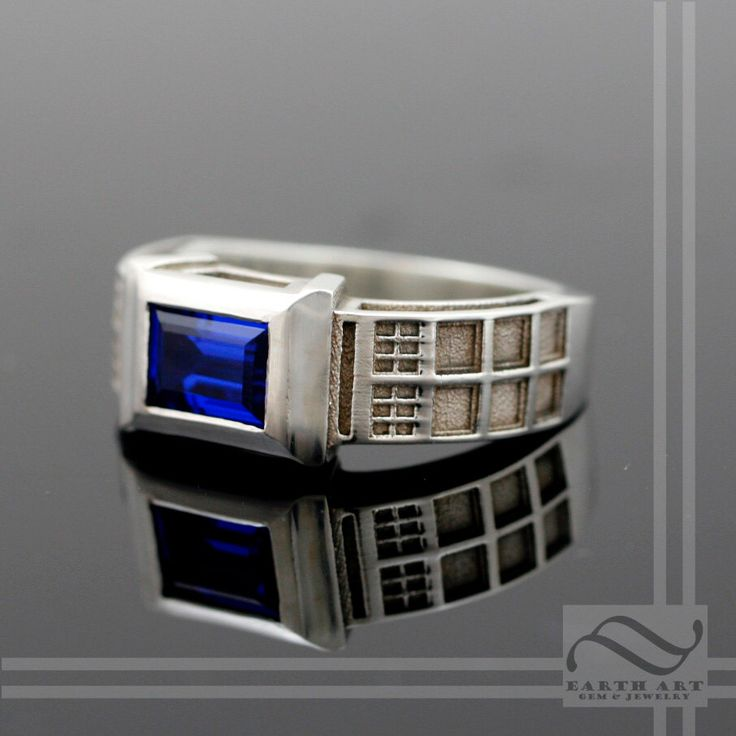 TARDIS Ring Solid Sterling Silver -  With Lab Sapphire by mooredesign13 on Etsy https://www.etsy.com/listing/153204849/tardis-ring-solid-sterling-silver-with