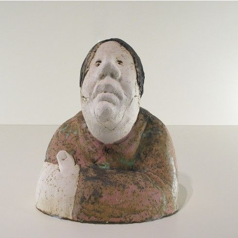 Sjer Jacobs borstbeeld vrouw keramiek