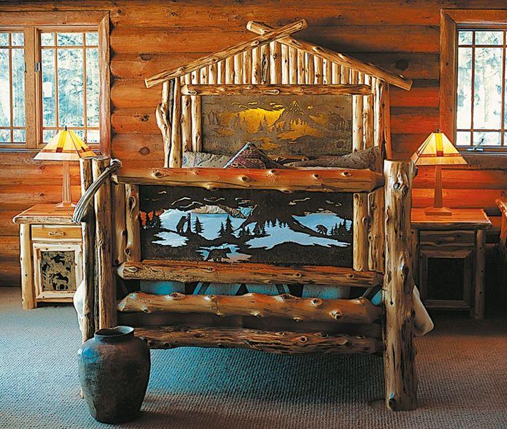 Paul Bunyan Bed King Size in 2020 Rustic bedroom design