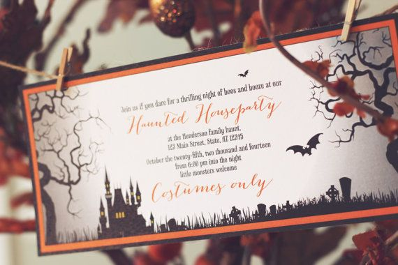 Printable by IzzyDesignsLLC, $10.00 Remember that first impressions are everything. Set the tone of your party and throw an unforgettable Halloween bash starting with a designer invitation!