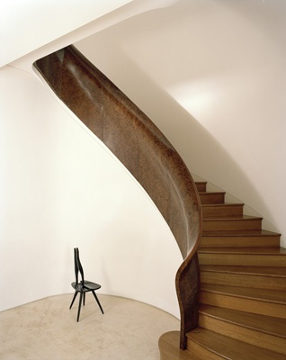 wood stair railings...