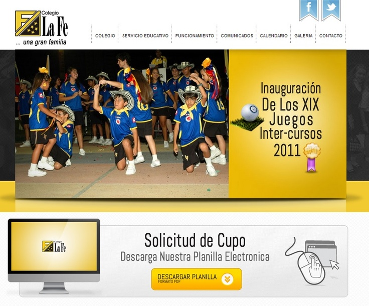 Página Web Colegio La Fe