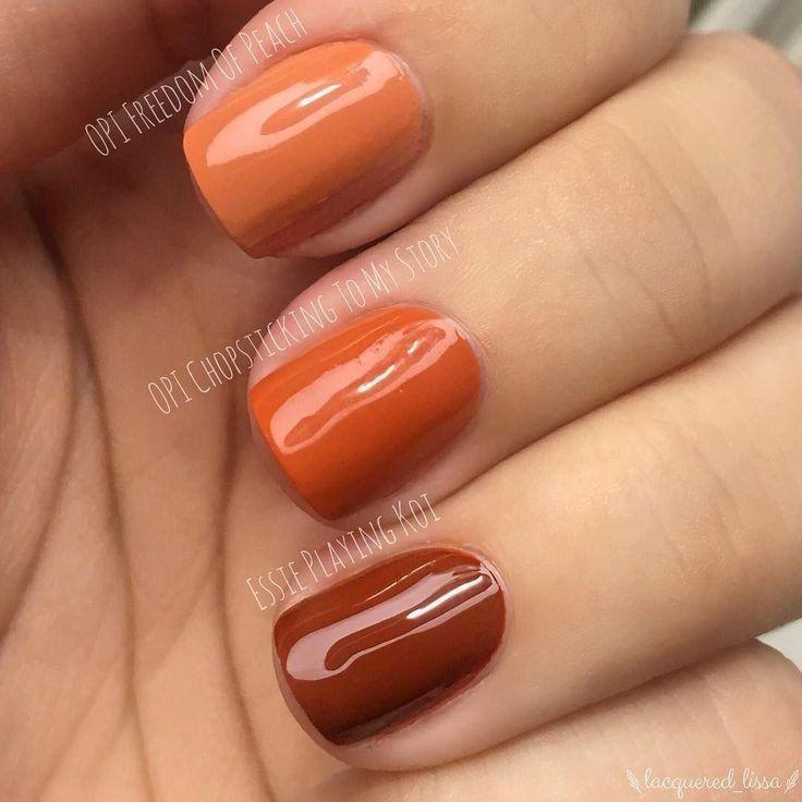 2020 Winsome Nail Art Styles In 2020 Orange Nails Fall Nail Colors Nail Polish