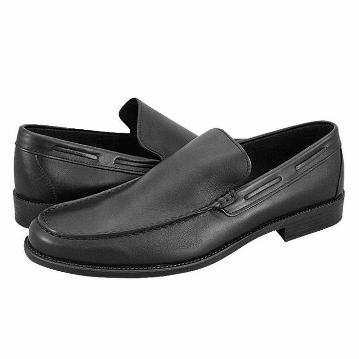 Stasin - Ανδρικά παπούτσια GK Uomo Comfort από δέρμα με δερμάτινη φόδρα και συνθετική σόλα.