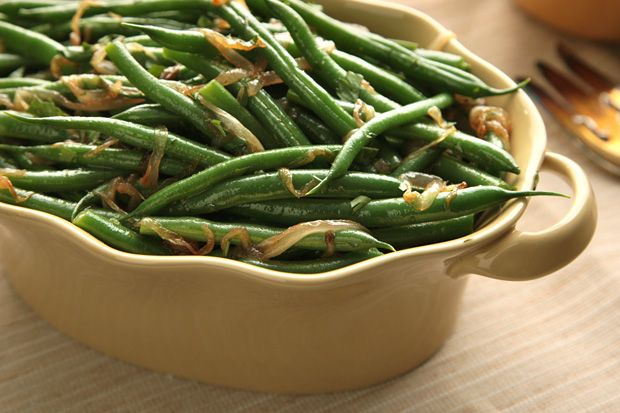 Basic Sautéed Green Beans - Blanched green beans are sautéed with a little vinegar and parsley for a bright-tasting, easy side dish.