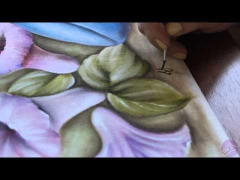 Pintura em tecido Eliane Nascimento: Assinando a pintura - YouTube