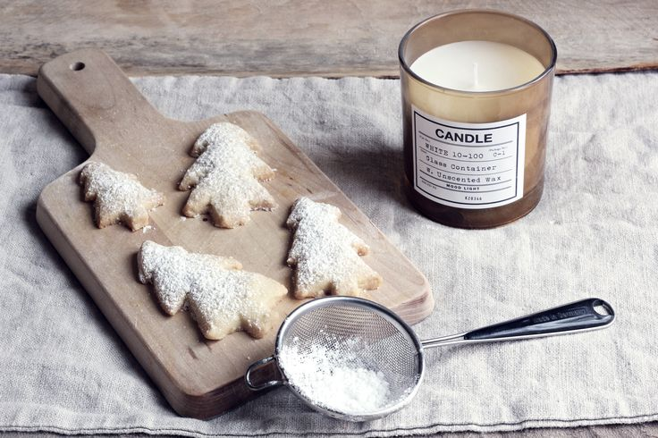 Småkakor med smak av vanilj.