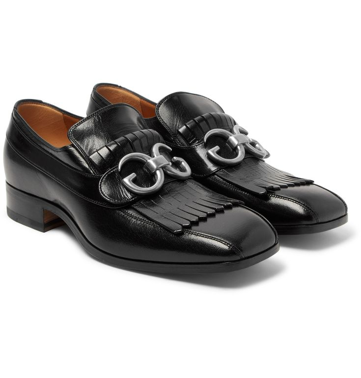 <a href='http://www.mrporter.com/mens/Designers/Gucci'>Gucci</a>'s loafers have serious sartorial pedigree – they were first introduced by the son of the brand's founder in 1953 and have been given a new lease of life thanks to Mr Alessandro Michele, without losing an inch of their heritage appeal. Part of the AW17 offering, this pair has been deftly made in Italy from leather with a squared-off toe and kiltie fringing that nods t...