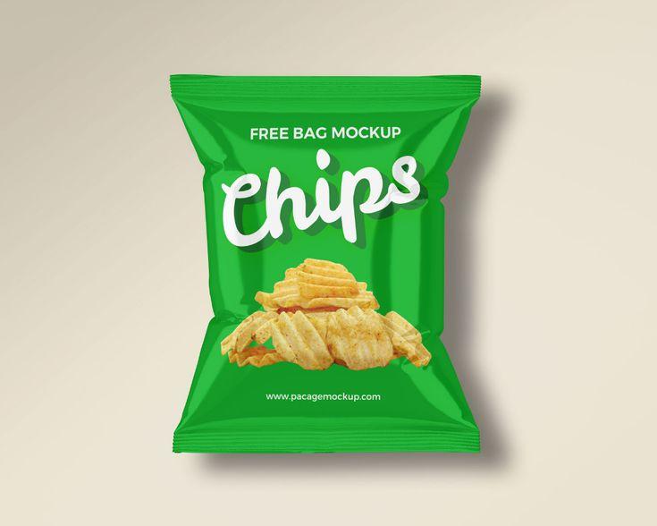 Small Chips Snacks Packet Mockup Set Free Package Mockups Snack Chips Snacks Chips