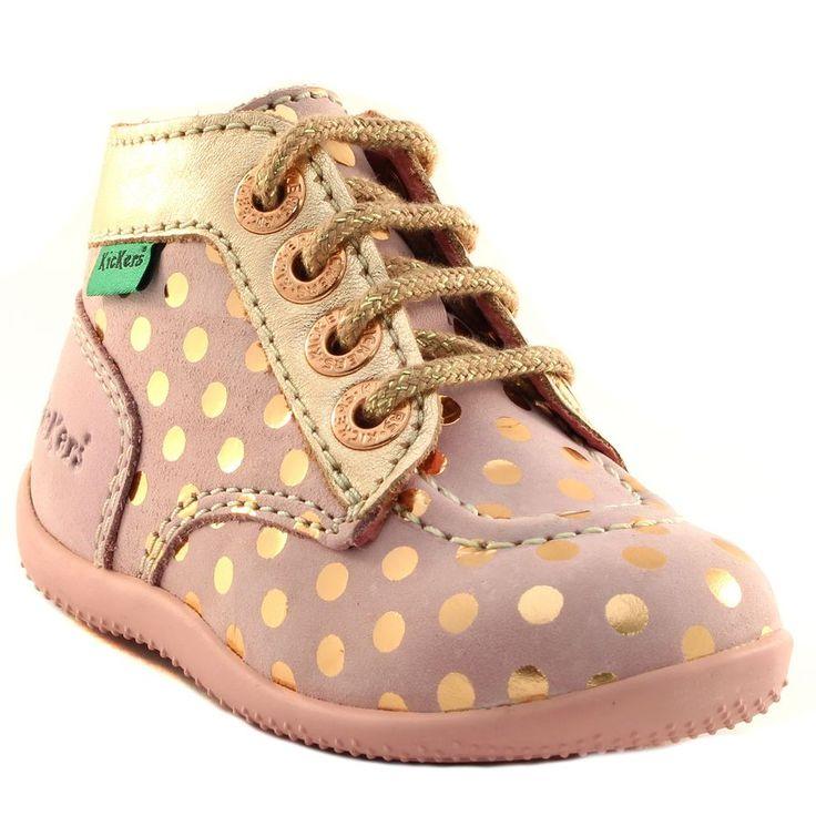 778500be4089a7 232A KICKERS BONBIG ROSE www.ouistiti.shoes le spécialiste internet chaussures  bébé ...