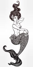 Set con tatuaggio sirena