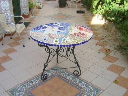 Mesa mosaico mesas - Mesa abatible carrefour ...