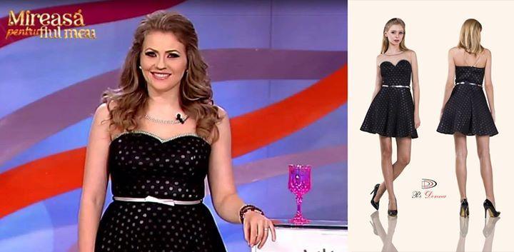 Frumoasa prezentatoare Mirela Boureanu Vaida a purtat astazi o rochie Per Donna!  #vaida #perdonna www.perdonna.ro