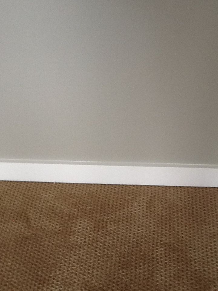Anew gray walls white trim tan carpet office for Carpet and paint color combinations