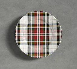 Denver Plaid Salad Plate