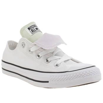 Converse White & Purple As Double Tongue Ox Womens Trainers