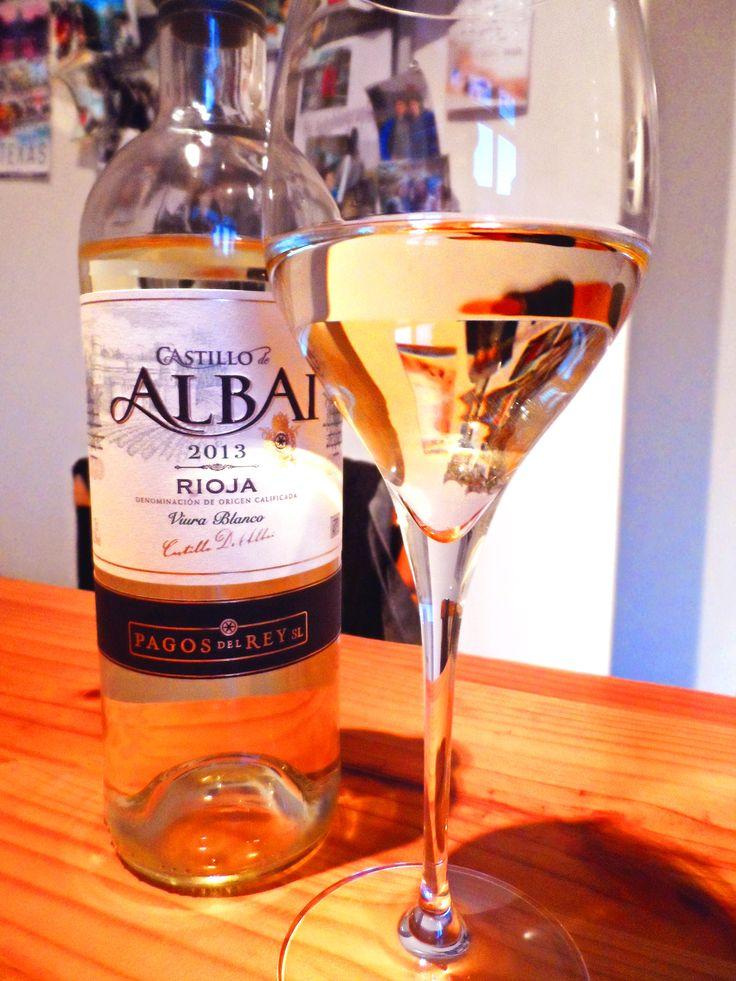 A beautiful white wine: Castillo Albai Rioja