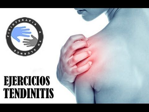 ▶ Tendinitis, ejercicios para aliviar el dolor de hombro / Fisioterapia a tu alcance - YouTube