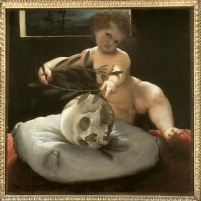 Lorenzo Lotto, Putto con teschio