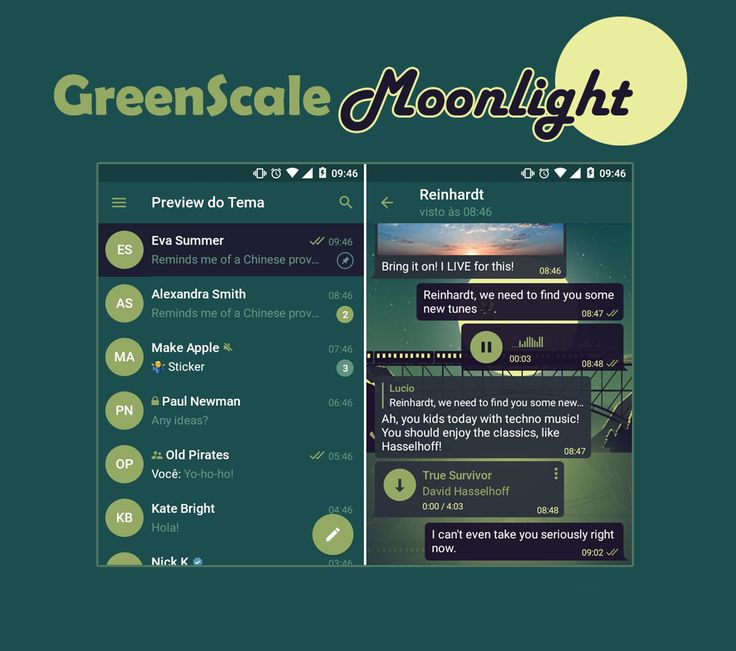 GreenScale Moonlight Theme mobile