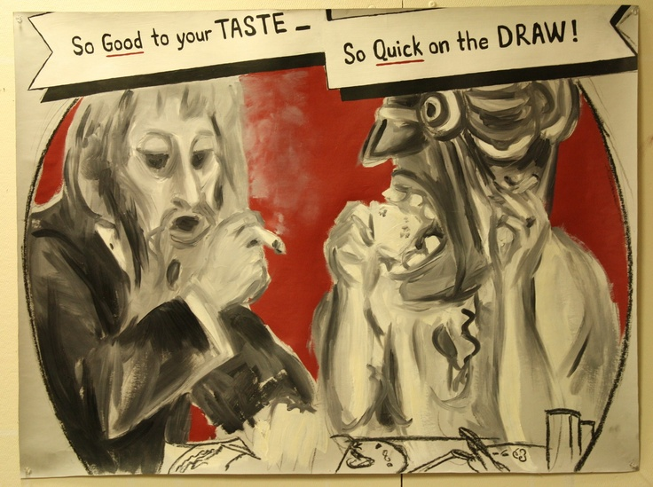 """""""So Good to Your Taste, So Quick on the Draw"""" 2013, Oil on card"""