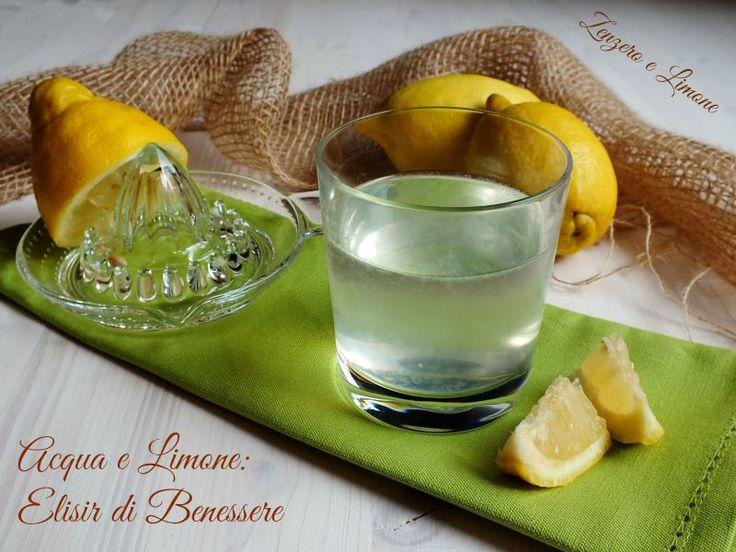 Acqua+e+limone:+benessere+in+un+bicchiere