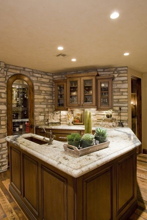Tall Wine Fridge In Wet Bar Design, Pictures, Remodel, Decor And Ideas    Page 5