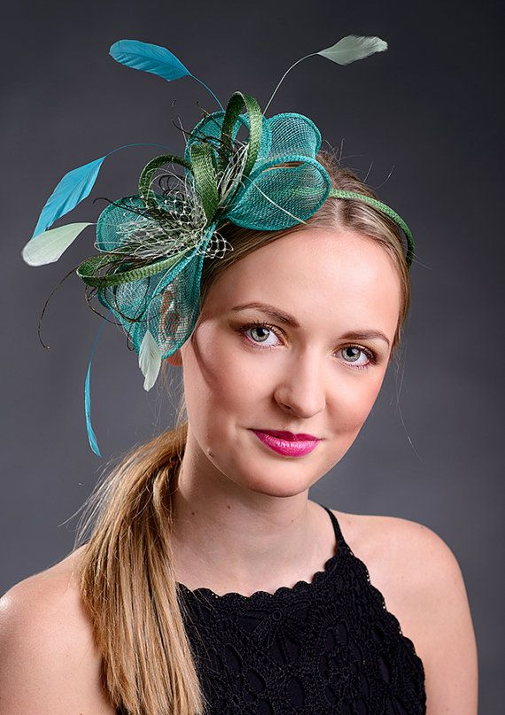 Emerald and green fascinator for weddings, Ascot, Derby, parties - New item in my fascinator collection!
