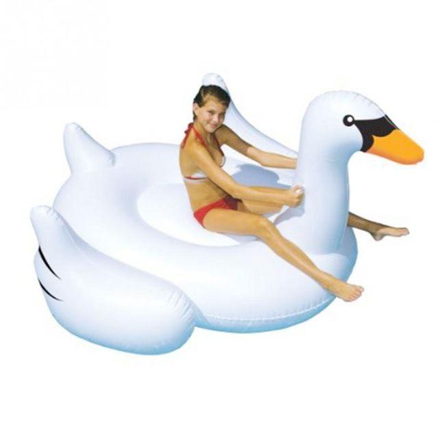 190*190 aufblasbare Flamingo Schwimm Bett Fahrt-Auf Schwimmen Ring Pool Spielzeug Liegen Entwässerung Bett Für Urlaub Wasser spaß Dhl-freies