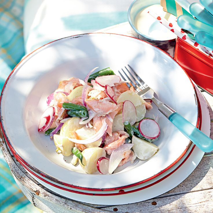 Set the mood of romance this Valentine's Day with our Tea-Smoked Salmon and Potato Salad http://www2.woolworthsonline.com.au/Shop/Recipe/3422 #Woolworths #Recipe #Valentine #Valentinesday #Salmon #Potato #Salad