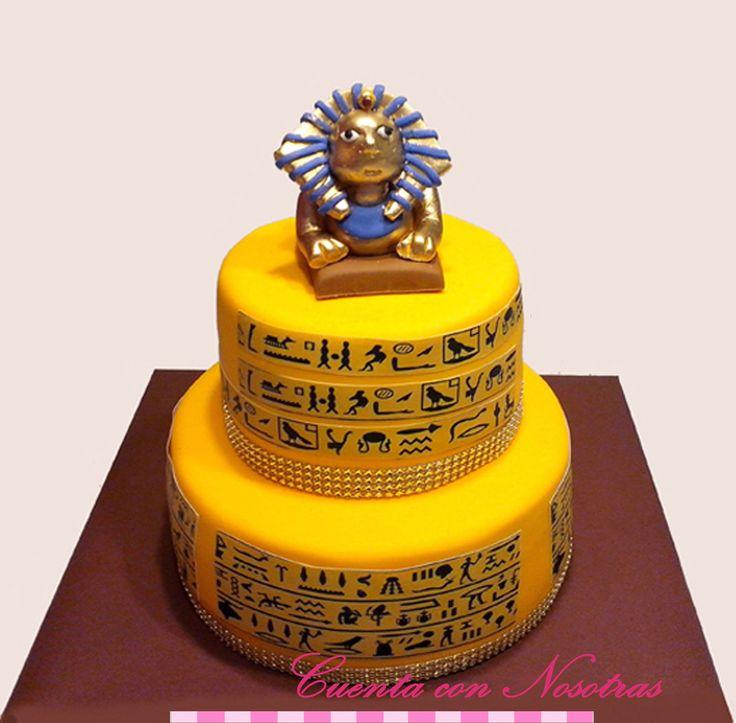 Torta esfinge Torta egipto Torta egipcia