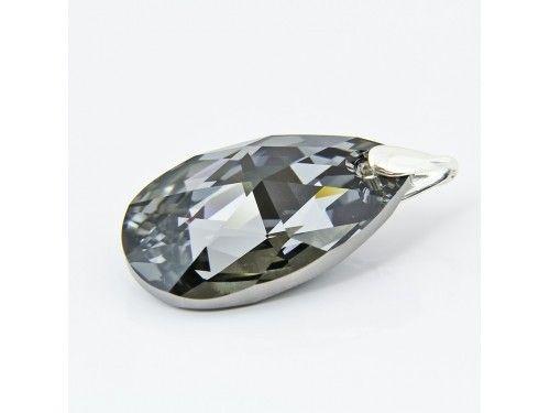 ZAWIESZKA SWAROVSKI 38MM SILVER NIGHT SREBRO 925 - W1237 Materiał: Srebro 925 + kryształ Swarovski Elements Kolor: Silver Night Rozmiar kamienia: 38mm Wysokość całej zawieszki: 46,0mm Waga srebra: 0,69g ( 1szt ) Waga całej zawieszki: 11.1g ( 1szt)