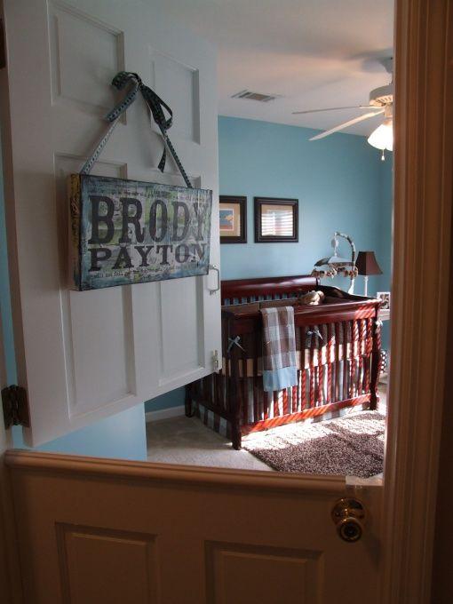 I LOVE the dutch door on the nursery! :)