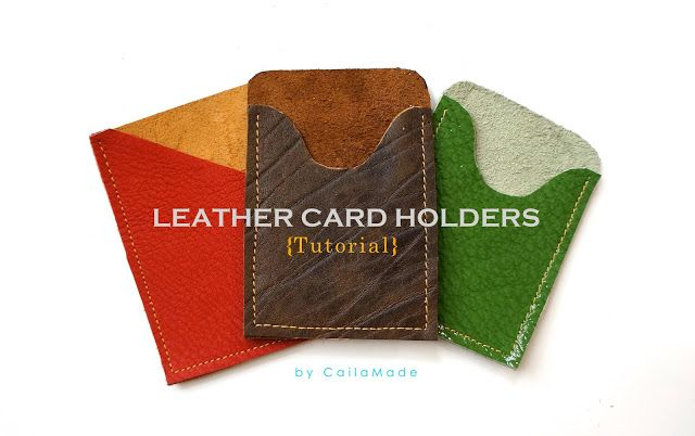 DIY Leather Card Holder tutorial. A great gift idea for Dad - love the design of these!