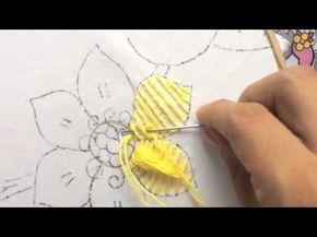 40.- Bordado fantasía para pétalo de flor - YouTube