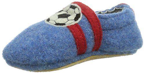 Giesswein Boll - Zapatos primeros pasos de lana para niño, color azul, talla 22 EU (6 Baby UK)