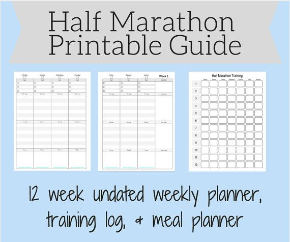 Printable half marathon training guide has everything you need to prep for your…