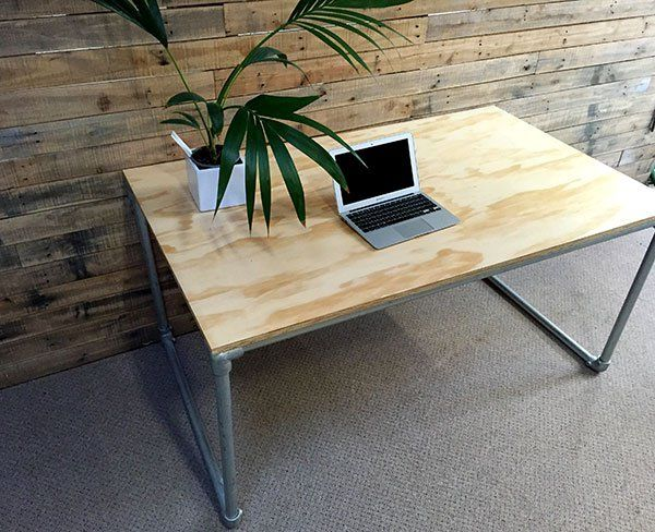 316 best images about pipe desks on pinterest desk plans desks and build your own. Black Bedroom Furniture Sets. Home Design Ideas