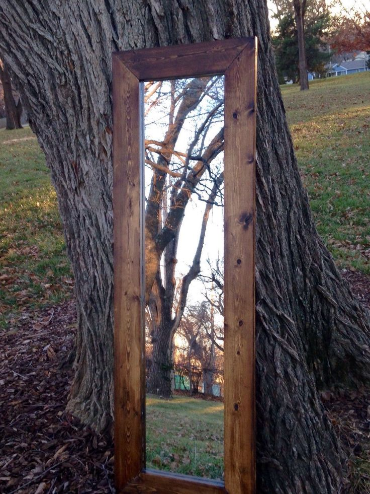 Rustic framed full length mirror great for a man cave or rustic living room decor great etsy find  53'' x 18'' Framed Mirror with Black Felted Backside, Full Length Indoor Mirror, Handmade Pine Frame with Dark Walnut Finish by MidCountryLife on Etsy https://www.etsy.com/listing/213321623/53-x-18-framed-mirror-with-black-felted