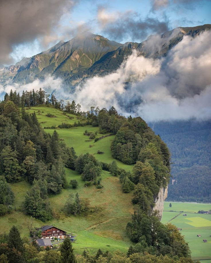 """david birri / switzerland on Instagram: """"#falchern #brienzerrothorn #house #clouds #haslital #berneroberland #schweiz #switzerland_vacations #switzerland #visitswitzerland #instadaily #instagood #igers #igers #swissalps #landscape #mountains #valley #blickheimat"""""""
