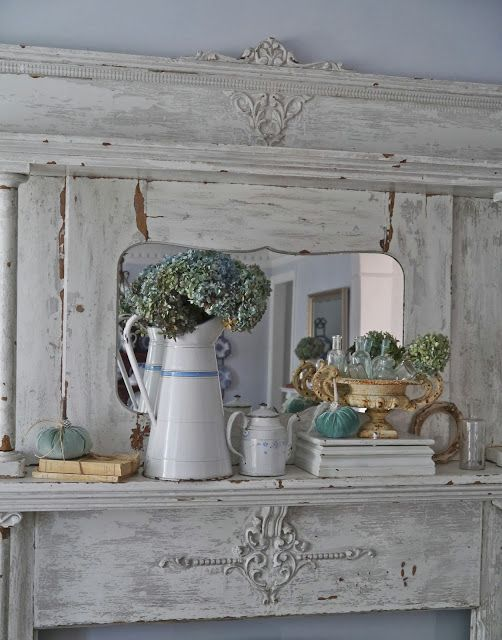 Chateau Chic: Designing A Fall Mantel