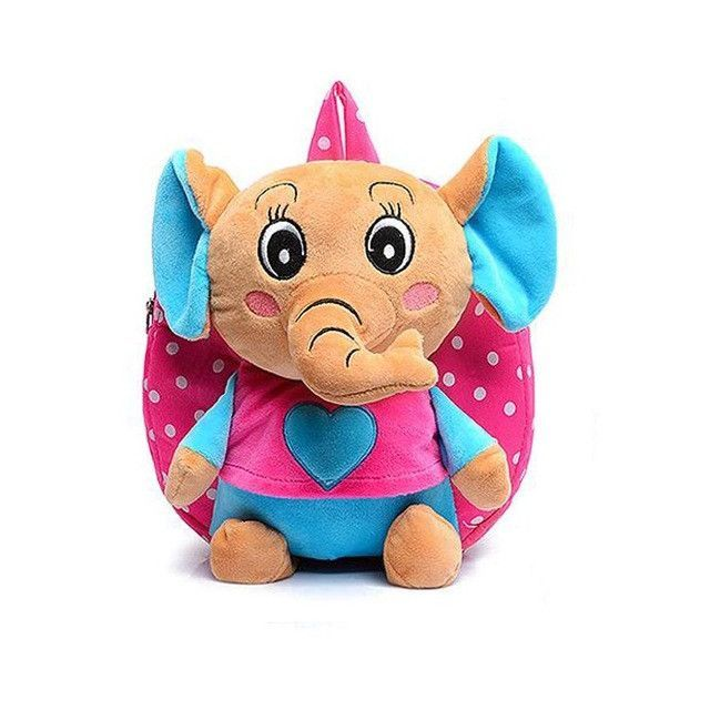 Kid cartoon elephant backpack kids kindergarten cute schoolbag baby girl children school bags mochila escolar gift good quality