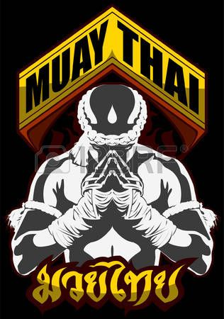 muay thai: muay thai fighter pray martial art                                                                                                                                                                                 Mais