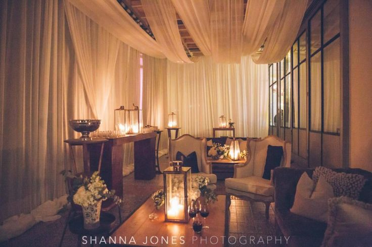Marelize & Helgard winelands wedding - the aleit group  Winelands wedding. Wedding lounge area. Wedding furniture. Draping. Wedding photos. Franschhoek. South Africa.
