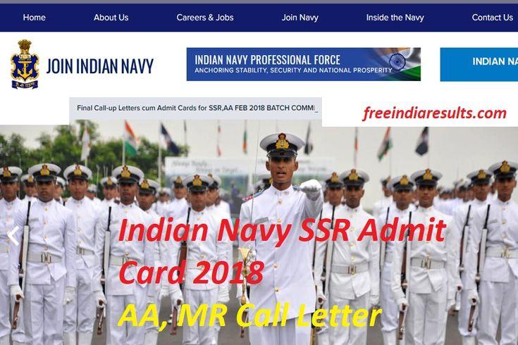 Indian Navy SSR Admit Card